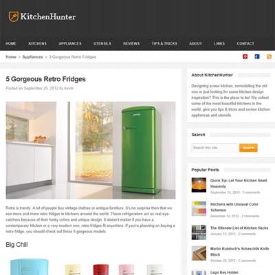 "In the Press - Kitchen Hunter (<a href=""http://kitchenhunter.net/2012/09/25/gorgeous-retro-fridges/"" class=""text-primary"" target=""_blank"">VIEW</a>)"