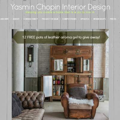 "In the Press - Yasmin Chopin Interior Design (<a href=""http://yasminchopin.com/index.php/top-tips-for-stunning-looking-leather/"" class=""text-primary"" target=""_blank"">VIEW</a>)"