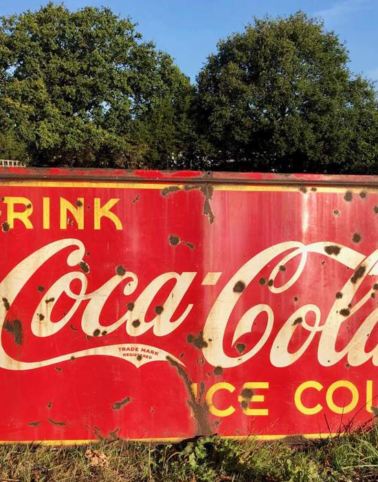 #V04: 1950's Coca Cola Advertising Sign - Front